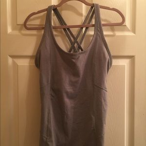Athleta Workout Tank Top with Built in Bra sz 1X